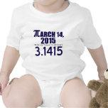 Día 2015 del pi traje de bebé