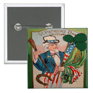 Día 21 del St Patricks del vintage Pin