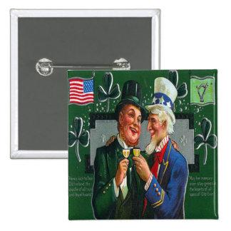 Día 22 del St Patricks del vintage Pin Cuadrada 5 Cm