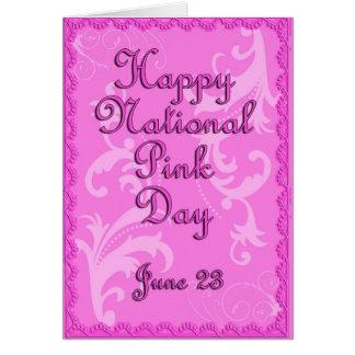 Día 23 de junio rosado nacional tarjeta de felicitación