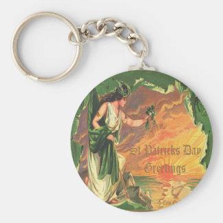 Día 25 del St Patricks del vintage Llaveros Personalizados