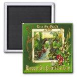 Día 29 del St Patricks del vintage Imán Cuadrado