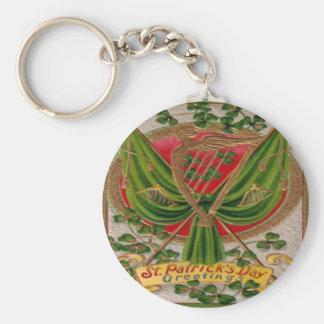 Día 30 del St Patricks del vintage Llaveros Personalizados