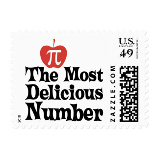 Día 3,14 del pi - el número más delicioso sello postal