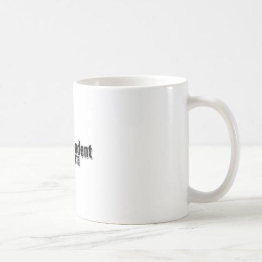 Día 4 de julio de 1776 independiente tazas de café