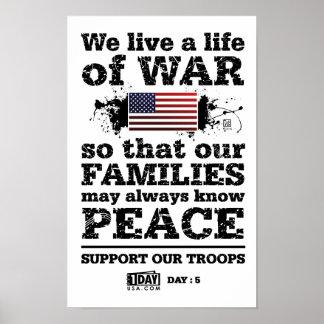 "Día: 5 - ""vida poster de la guerra"""