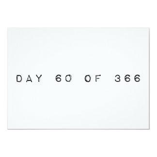 """día 60 de DÍA de SALTO 366 Invitación 5"""" X 7"""""""