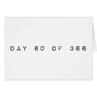 día 60 de DÍA de SALTO 366 Tarjeta De Felicitación
