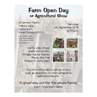 """Día abierto de la granja o demostración agrícola folleto 8.5"""" x 11"""""""