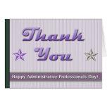 Día administrativo de los profesionales tarjeta