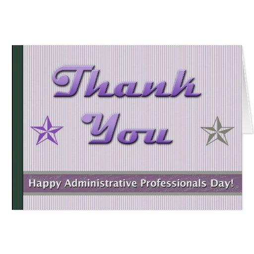 Día administrativo de los profesionales tarjeta de felicitación