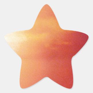 Día agradable en la playa pegatina en forma de estrella