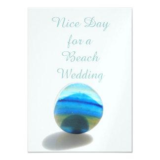 Día agradable para un boda de playa invitación 11,4 x 15,8 cm