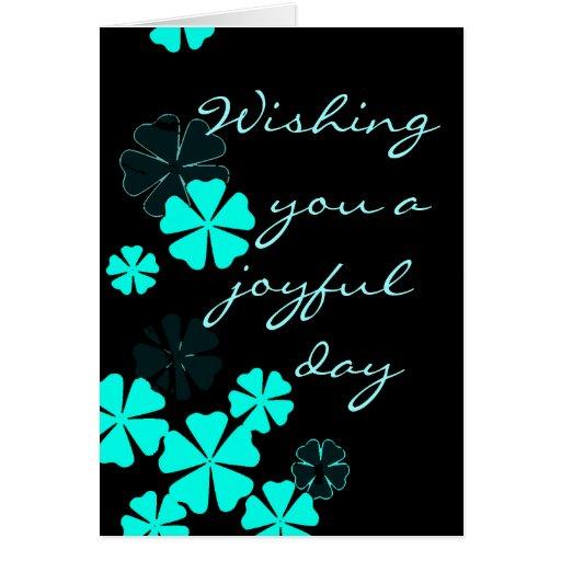 Día alegre tarjeta pequeña