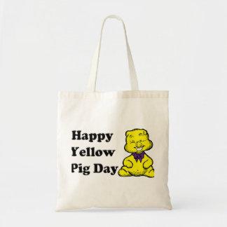 Día amarillo del cerdo bolsas