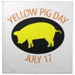 Día amarillo del cerdo servilletas de papel