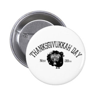Día apenado Turquía Menorah de Thanksgivukkah Pin Redondo 5 Cm