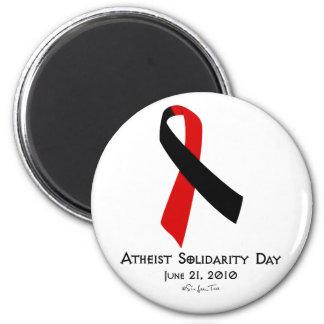 Día ateo de la solidaridad imán redondo 5 cm