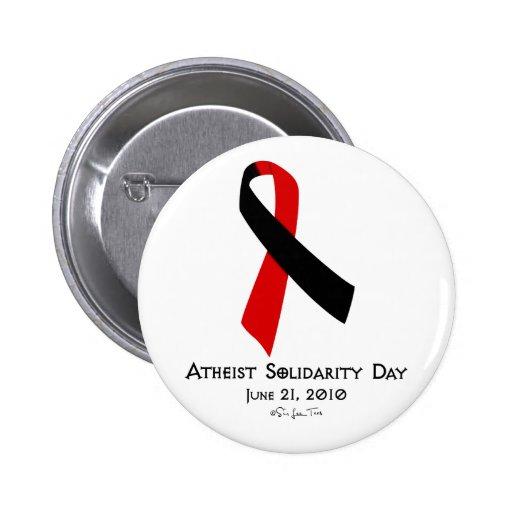 Día ateo de la solidaridad pin redondo de 2 pulgadas