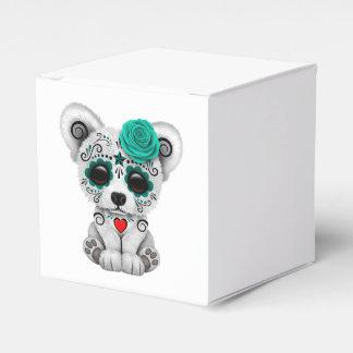 Día azul del trullo del oso muerto del cráneo del caja para regalos