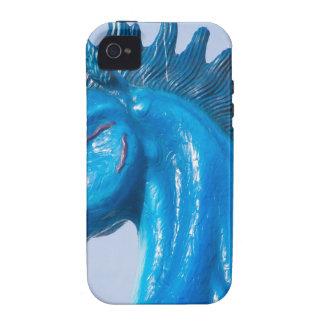 DIA Blue Mustang Portrait Vibe iPhone 4 Case