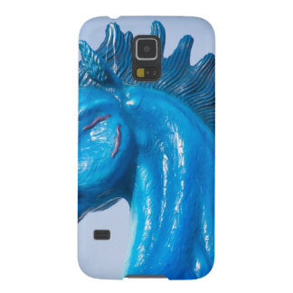 DIA Blue Mustang Portrait Case For Galaxy S5