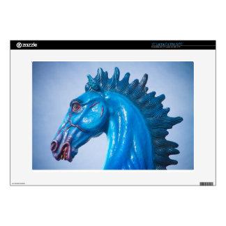 "DIA Blue Mustang Portrait Skin For 15"" Laptop"