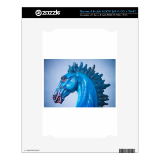 DIA Blue Mustang Portrait Decals For NOOK