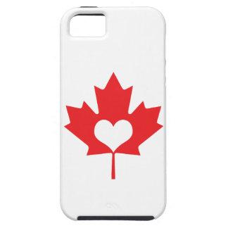 Día canadiense clásico de Canadá de la hoja de iPhone 5 Case-Mate Cobertura