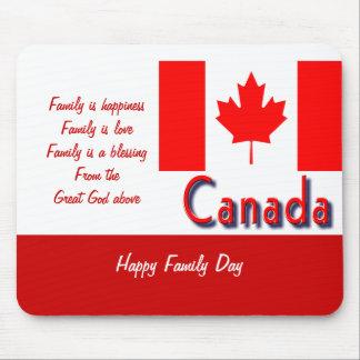 Día canadiense de la familia mouse pad