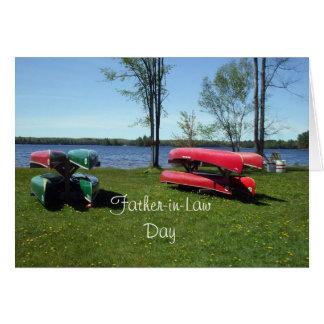 Día-Canoas del suegro Tarjeta De Felicitación