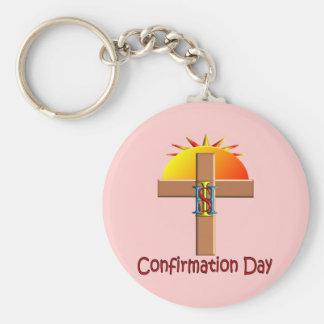 Día católico de la confirmación para los niños llavero personalizado
