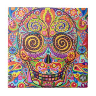 Día colorido de la baldosa cerámica del cráneo mue azulejos ceramicos