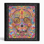 Día colorido de la carpeta muerta del cráneo del