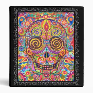 Día colorido de la carpeta muerta del cráneo del a