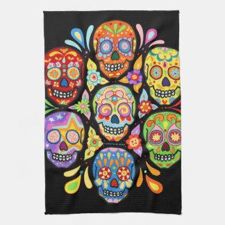 Día colorido de la toalla de cocina muerta del crá