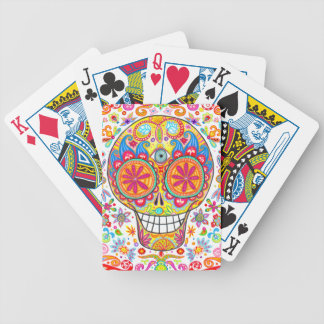 Día colorido de los naipes muertos cartas de juego