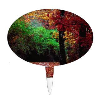 Día colorido del otoño figura para tarta