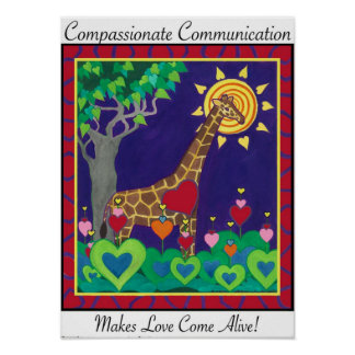Día compasivo de la comunicación póster