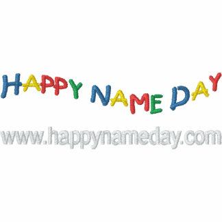 Día conocido feliz camiseta polo bordada