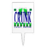 Día CRUNK - un viejo término irlandés del St Patri Figuras De Tarta