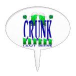Día CRUNK - un viejo término irlandés del St Patri Figura Para Tarta