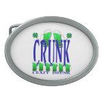 Día CRUNK - un viejo término irlandés del St Patri Hebillas Cinturon