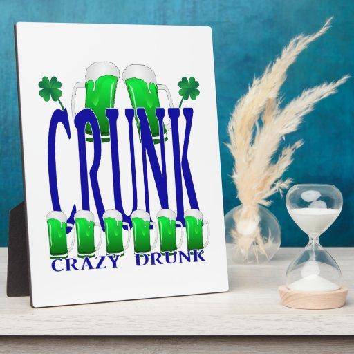 Día CRUNK - un viejo término irlandés del St Patri Placas De Madera