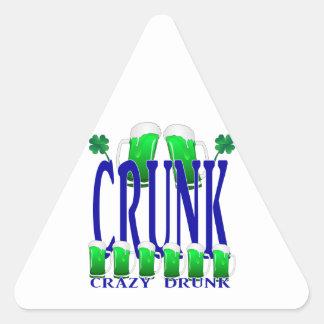 Día CRUNK - un viejo término irlandés del St Calcomanías De Triangulos Personalizadas