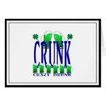 Día CRUNK - un viejo término irlandés del St Tarjeta De Felicitación