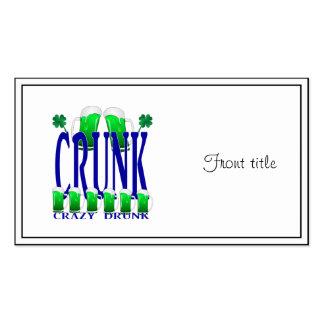 Día CRUNK - un viejo término irlandés del St Tarjetas De Visita