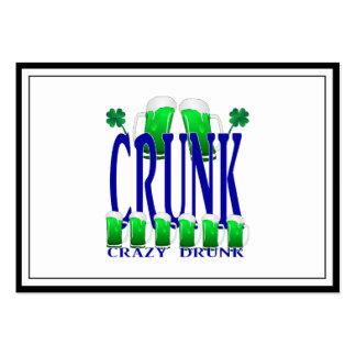 Día CRUNK - un viejo término irlandés del St Tarjetas De Visita Grandes