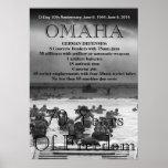 Día D 70.o de Omaha Posters