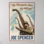Día D de Dino: Chaqueta de punto de Joe Póster